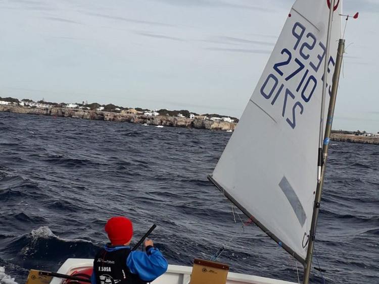 Francesc Sosa, durante la regata.