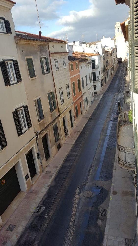 Imagen de las obras de asfaltado (Fotos: Tolo Mercadal)