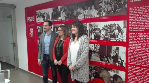 Susana Mora, Héctor Pons y Noemí Camps, candidatos socialistas para la próxima convocatoria electoral