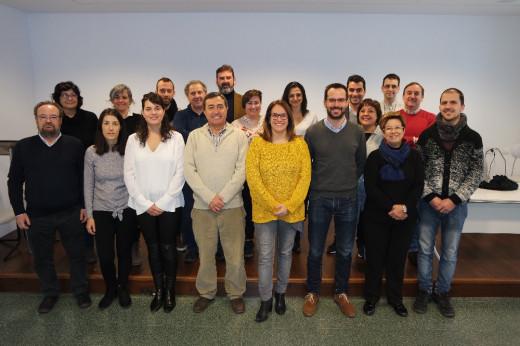 Susana Mora junto a miembros del PSOE Menorca
