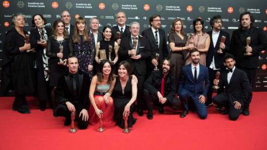 Fotografía de los ganadores de la Gala Premios Gaudí 2019