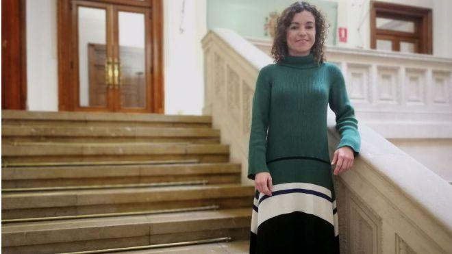 Rosario Sánchez, antes de la entrevista (Foto: mallorcadiario.com)