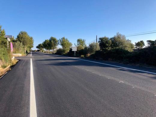 Las obras aumentan la seguridad de esta carretera