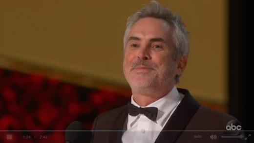 """Alfonso Cuarón, director de """"Roma"""" en la gala de los Oscar 2019"""