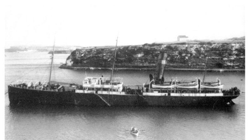 Imagen del buque prisión Atlante.