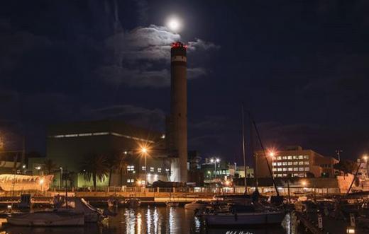 Superluna fotografiada por Mikel LLambías.