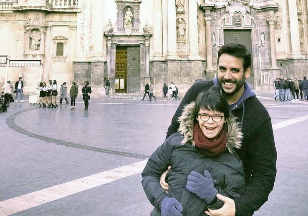 Carlos Roca y su hermano David.