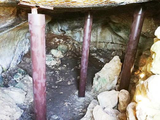 (Fotos) Acaban las obras de consolidación de la cueva de Diodorus