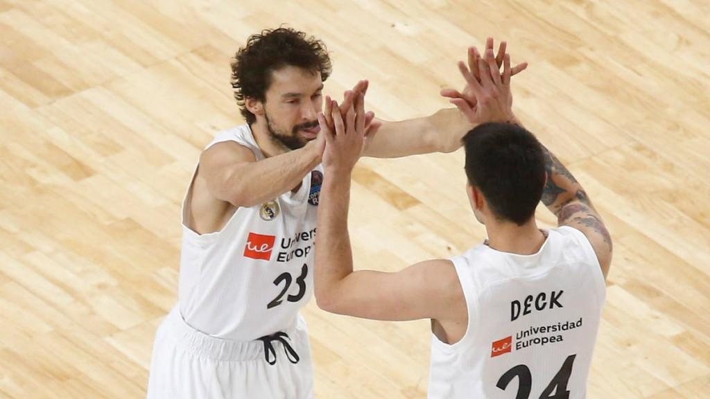 Llull y Deck celebran la victoria (Foto: ACB Photo)