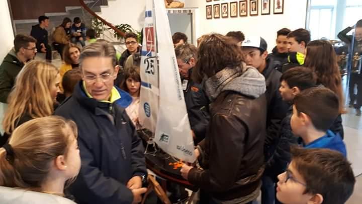 Marc de Moner ha cedido el prototipo del velero al Club Nàutic de Ciutadella Foto: (Club Nàutic Ciutadella)