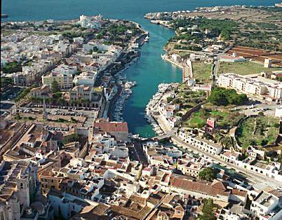 Imagen aérea de Ciutadella