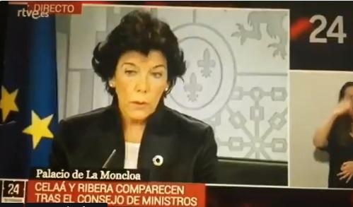 La Ministra portavoz explica el REB en rueda de prensa
