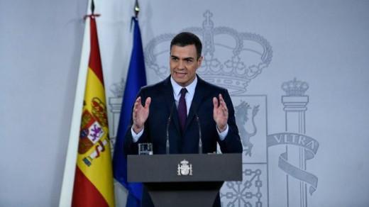 Pedro Sánchez, en rueda de prensa..