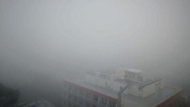 La niebla en Palma dificulta la visibilidad en su aeropuerto (Foto: mallorcadiario.com)