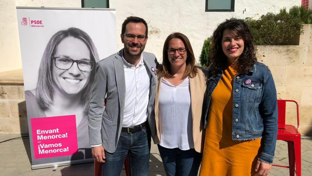 Imagen de los tres candidatos (Fotos: PSOE Menorca)
