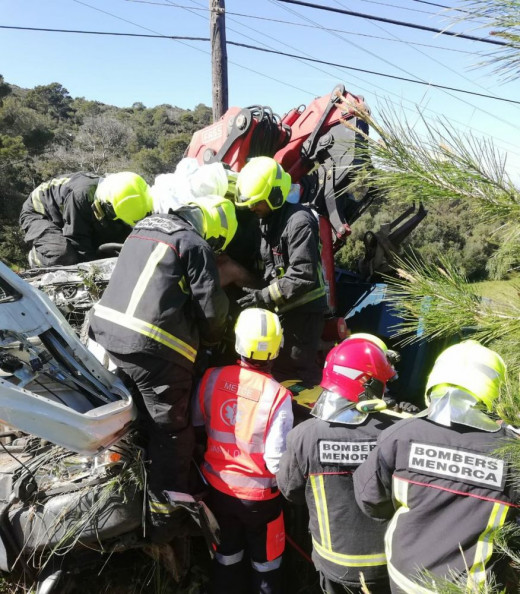 Imagen de las labores de rescate (Foto: Samu 061)