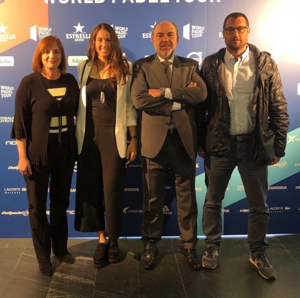 Los representantes de Menorca, en el evento.