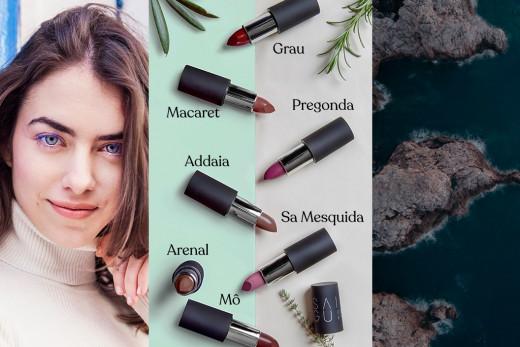 Todos los pintalabios tienen nombre de algún lugar de Menorca.