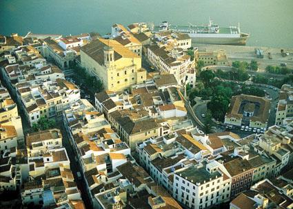 Imagen aérea de Maó.