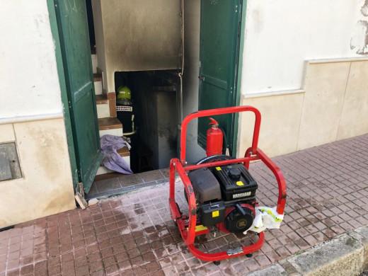 (Fotos) Incendio en la iglesia Evangélica de Es Castell