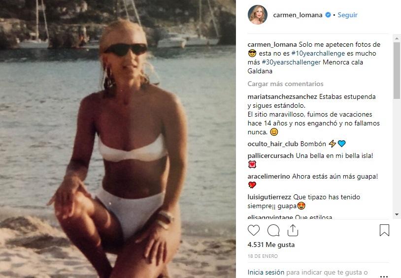 Imagen que Carmen Lomana tiene en su cuenta de Instagram