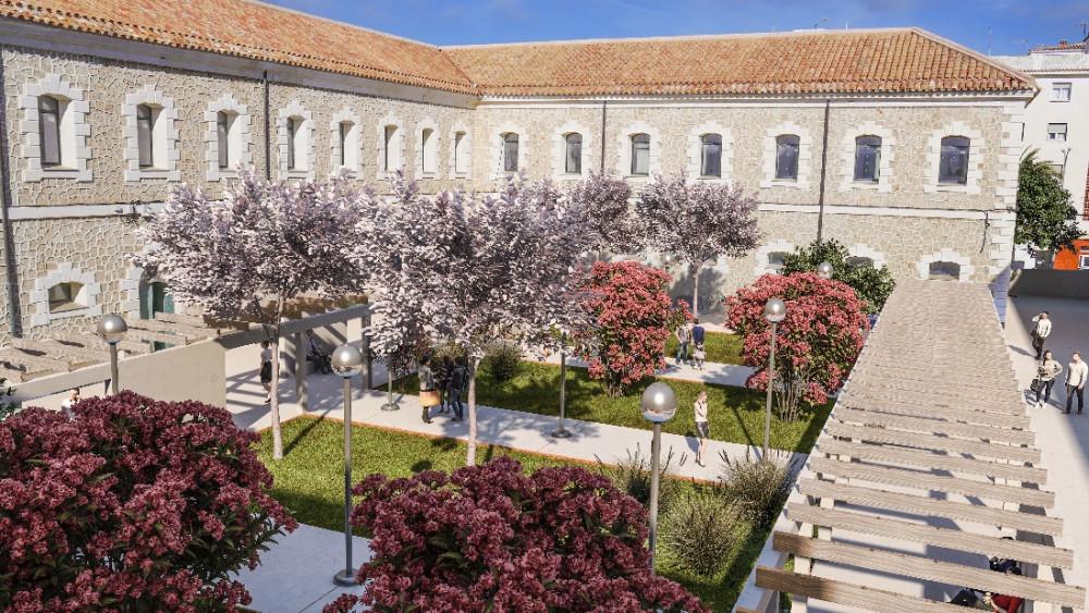 Imagen virtual de la reforma del Cuartel de Santiago