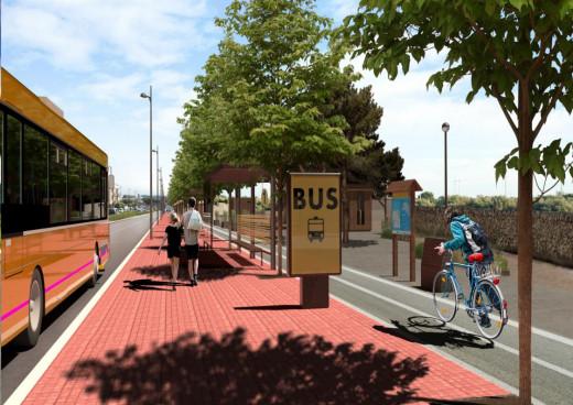 Las mejoras en la Vía perimetral cambiarán el paisaje urbano de Ciutadella