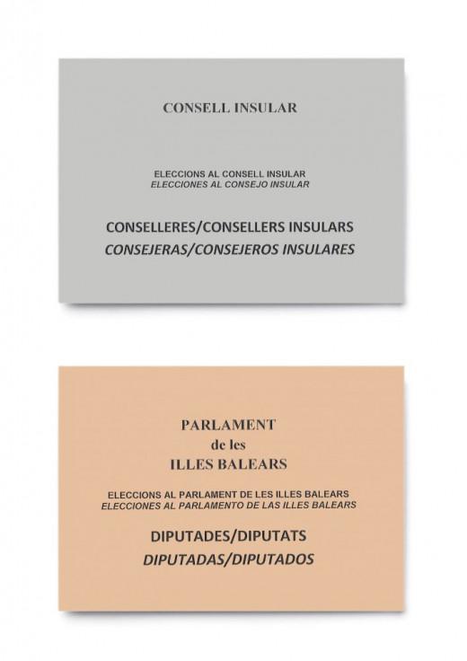 Nueva imagen de los sobres para las votaciones de mayo