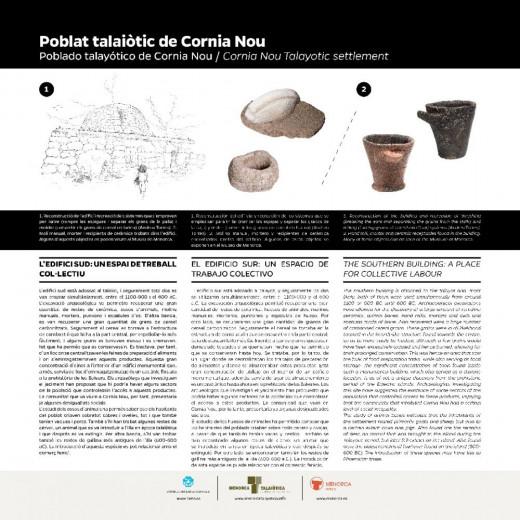 Nuevo cartel informativo en Cornia Nou