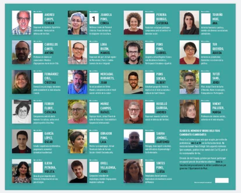 22 candidatos.
