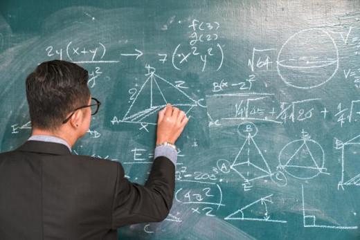 Profesor en un aula.