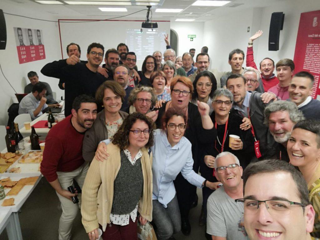 En la sede del PSOE Menorca celebran los resultados electorales