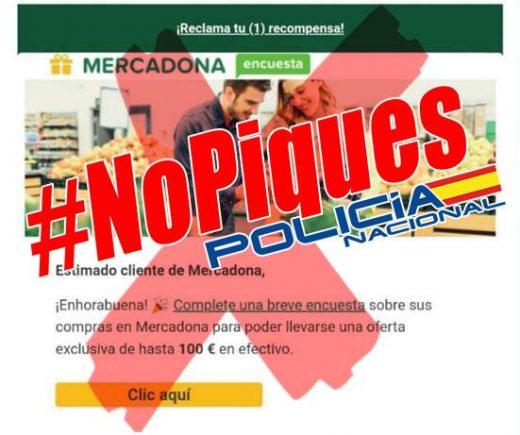 Mensaje de la Policía Nacional en Facebook.