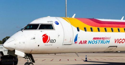 Avión de Air Nostrum.