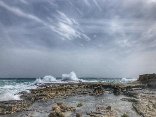 (Las imágenes) El mal tiempo ya se deja notar