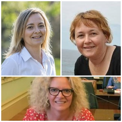 Pilar Pons,Elena Baquero y  Ana Britt Sánchez en los 3 primeros puestos de la candidatura socialista al Ayuntamiento de Es Migjorn Gran