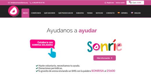 Captura de pantalla de la web.