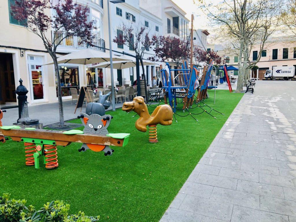 Este es el nuevo aspecto que presenta el parque (Foto: Ajuntament d'Alaior)