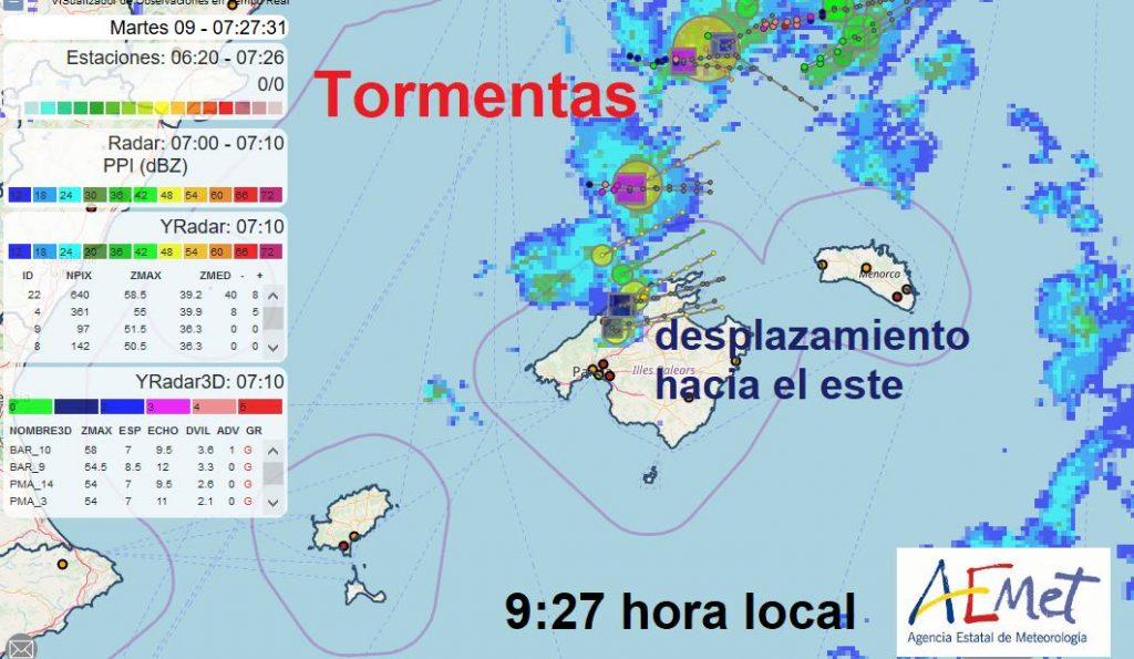 Imagen del radar.