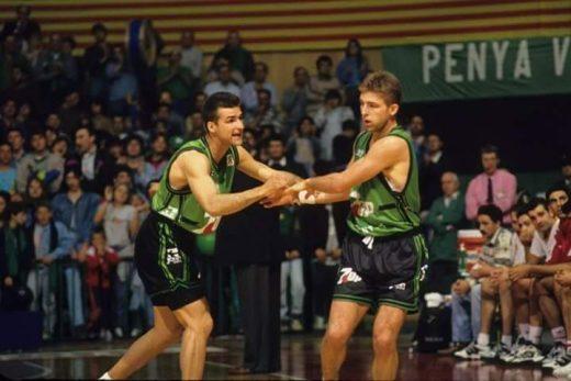 Tomàs y Rafa Jofresa, en su etapa en el Joventut.