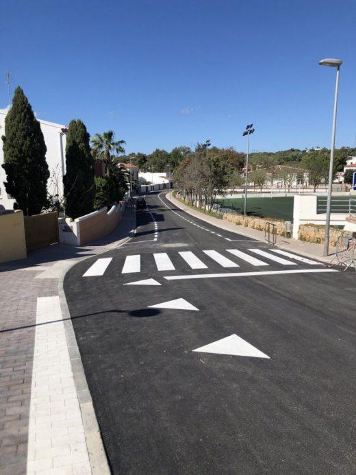 Imagen de la calle asfaltada (Foto: Ajuntament d'Alaior)