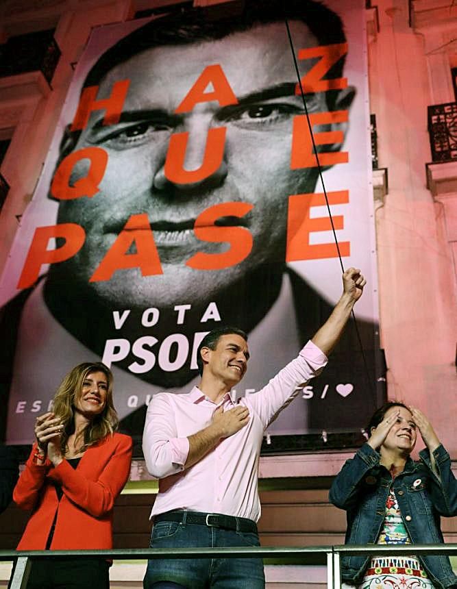 Pedro Sánchez, tras el triunfo.