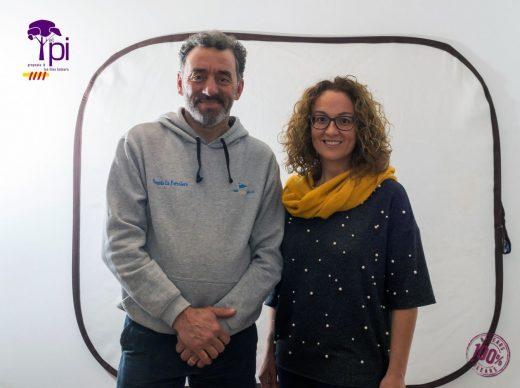 Marisa Puertas, candidata al Parlament por El PI y Miquel Ponsetí, candidato al Consell de Menorca