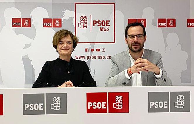 Hector Pons Riudavets y Carme Seguí Puntas en la rueda de prensa celebrada esta mañana.