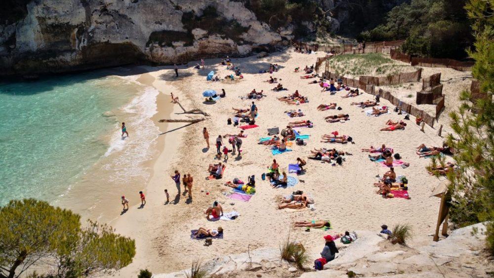 Imagen de la playa de Macarelleta (Foto: José Luis García Llagües)