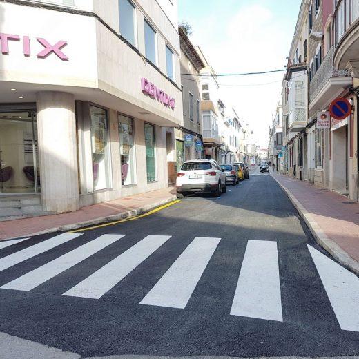 Imagen de la calle ya reabierta al tráfico (Foto: Aj Maó)
