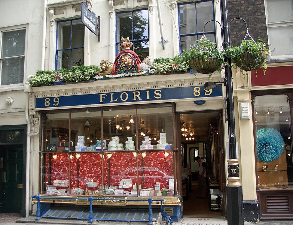 Imagen de la perfumería Floris en Londres