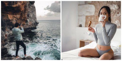 Fotografías de la pareja en Menorca.