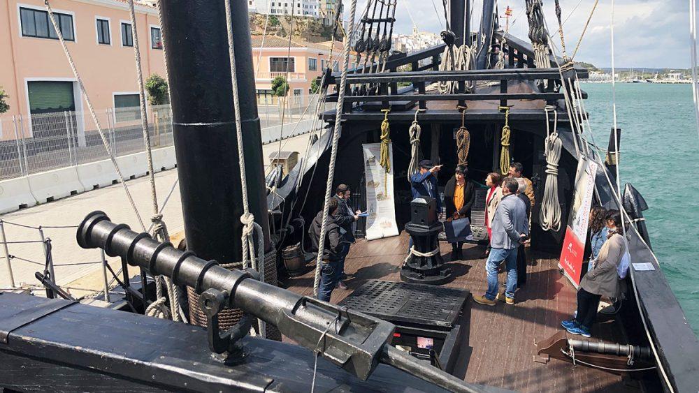 Imagen de la visita al barco (Fotos: Tolo Mercadal)