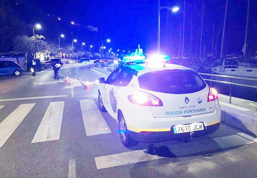Imagen del accidente ocurrido anoche en el puerto de Maó